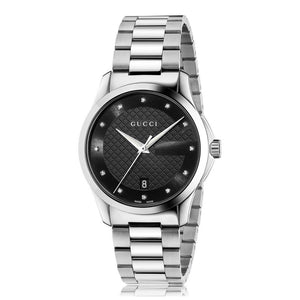 GUCCI - G-Timeless Black Dial Diamond - YA126456