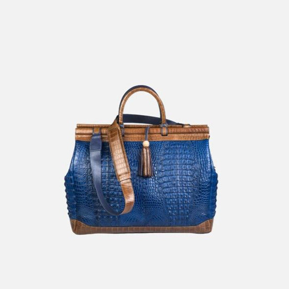 ZAMBEZI GRACE -  Livingstone Traveler - Royal Blue/Cognac