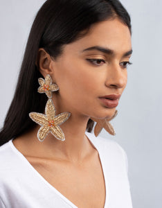 OLIVIA DAR - Maxi Starfish Earrings - Gold