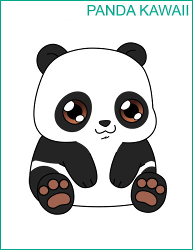 Dessin Kawaii Panda final
