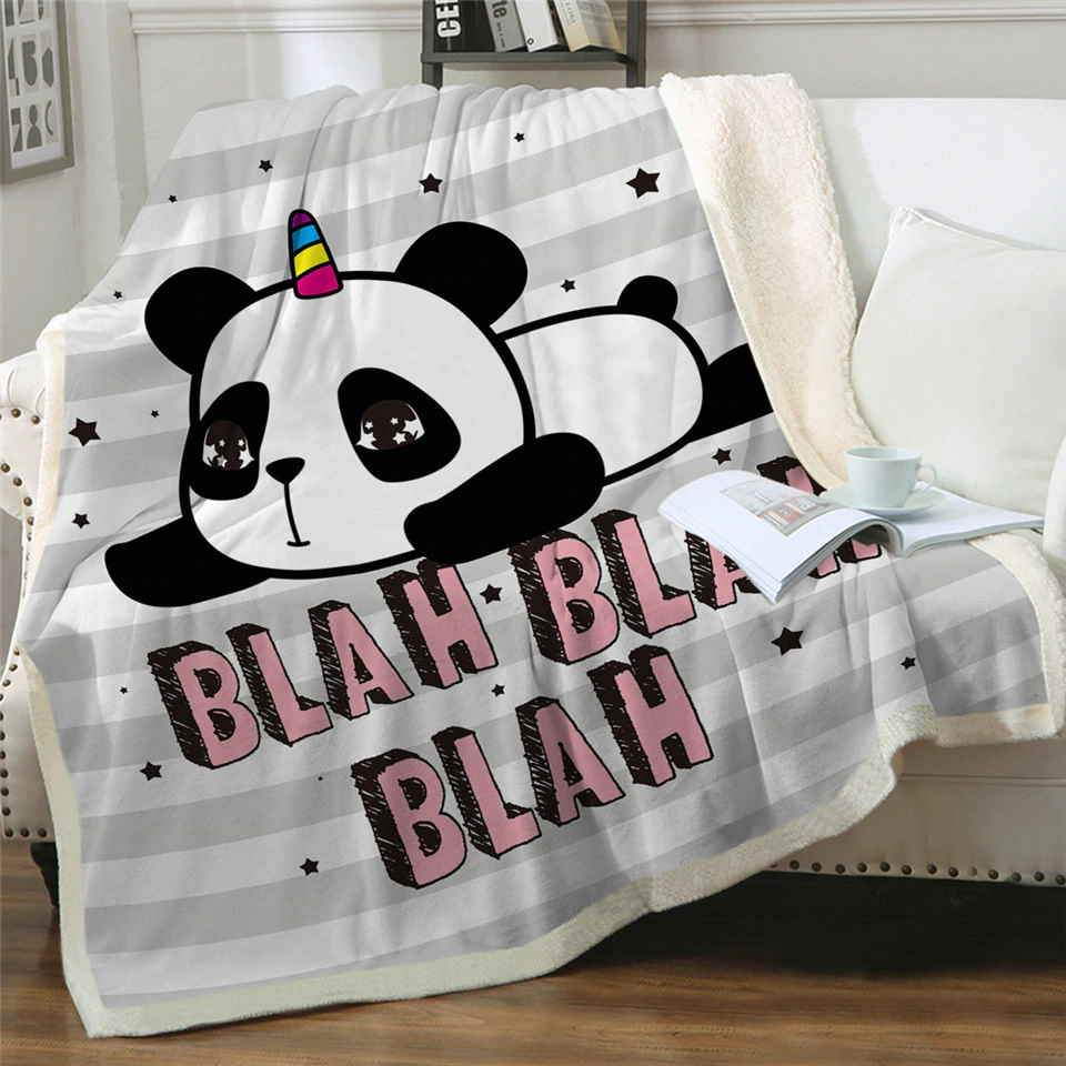Plaid Panda Unicorn Petit Panda