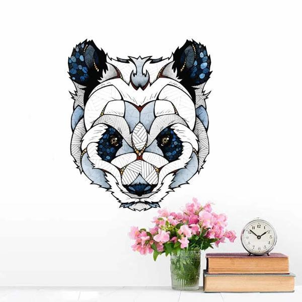 Tête Ours Origami Stickers Petit Panda