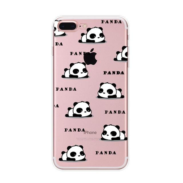 Coque iPhone 8 Panda Petit Panda