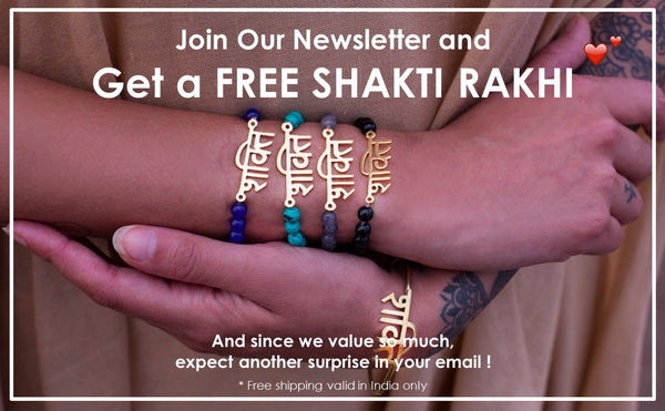 Join Our Newsletter and Get a Free Shakti Rakhi - By Parvati Villa, Lifestyle Boutique in Bombay, India