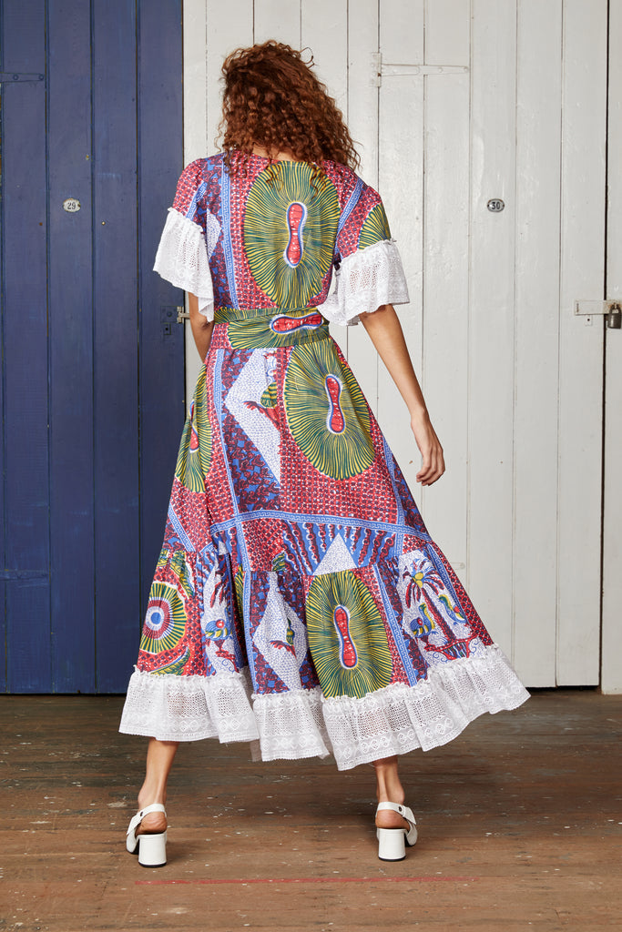 CARTAGENA WRAP DRESS.