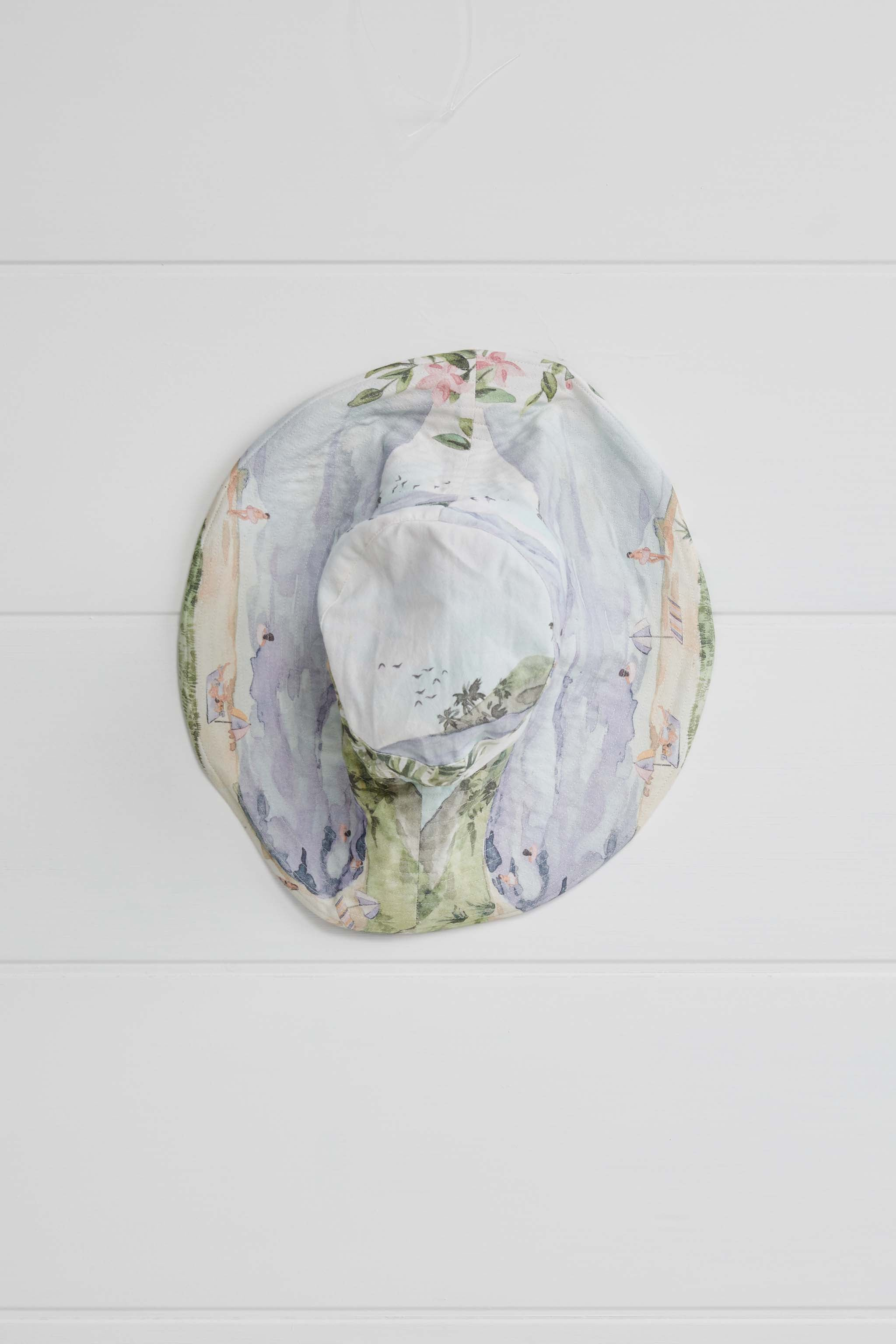 COCKLES WIDE BRIM BUCKET HAT