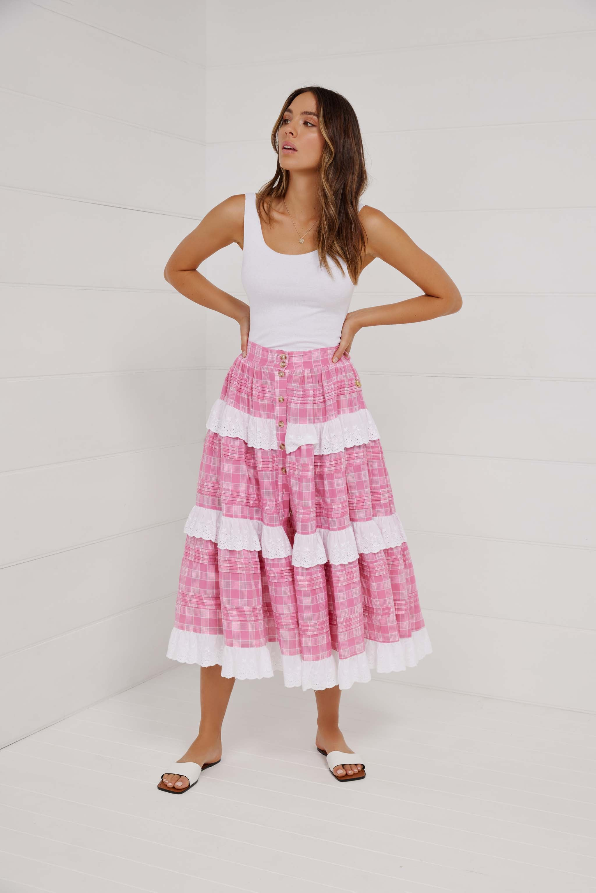 SUGARBABIES PINTUCKED SKIRT