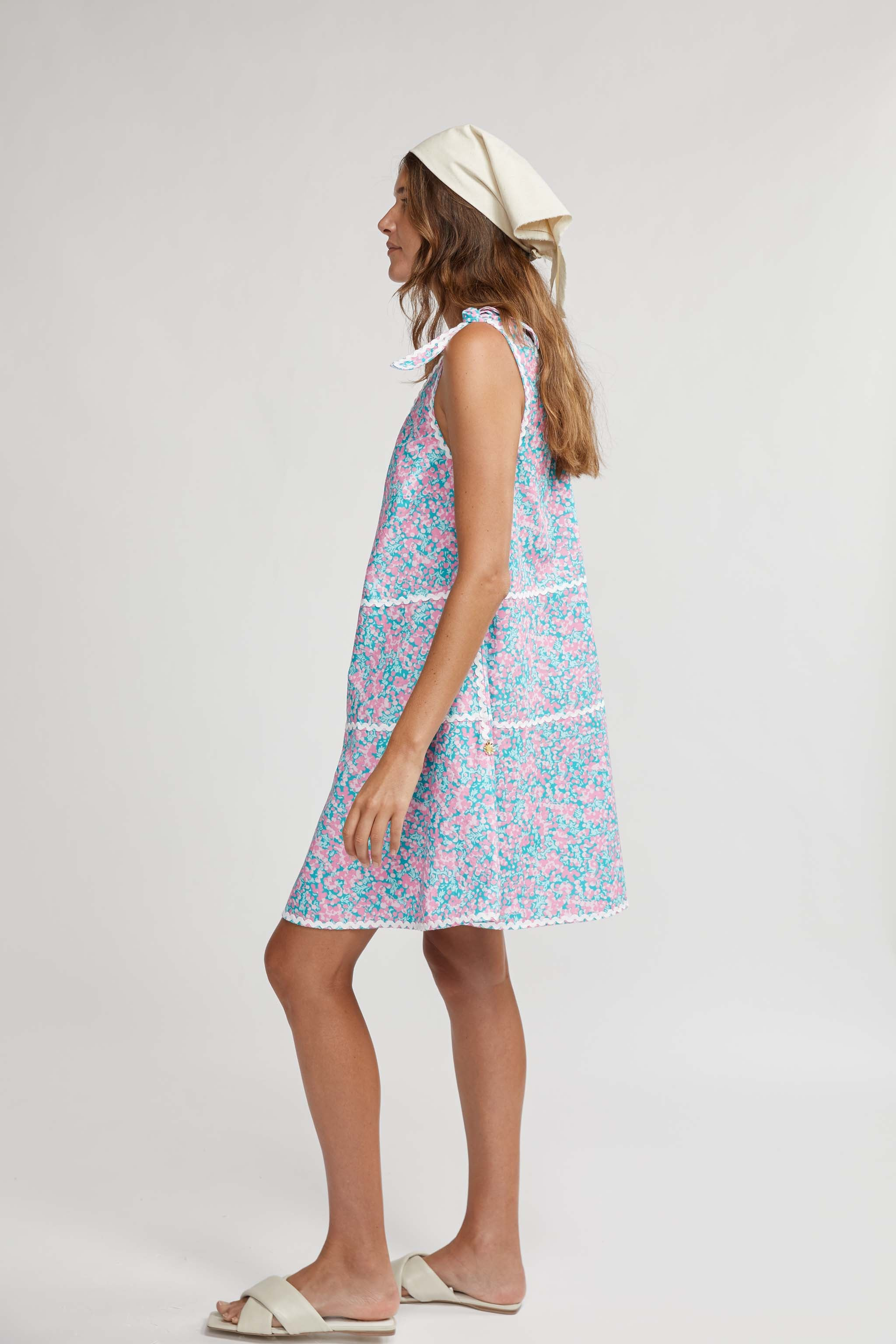 CABBAGEWARE TIERED MIDI DRESS