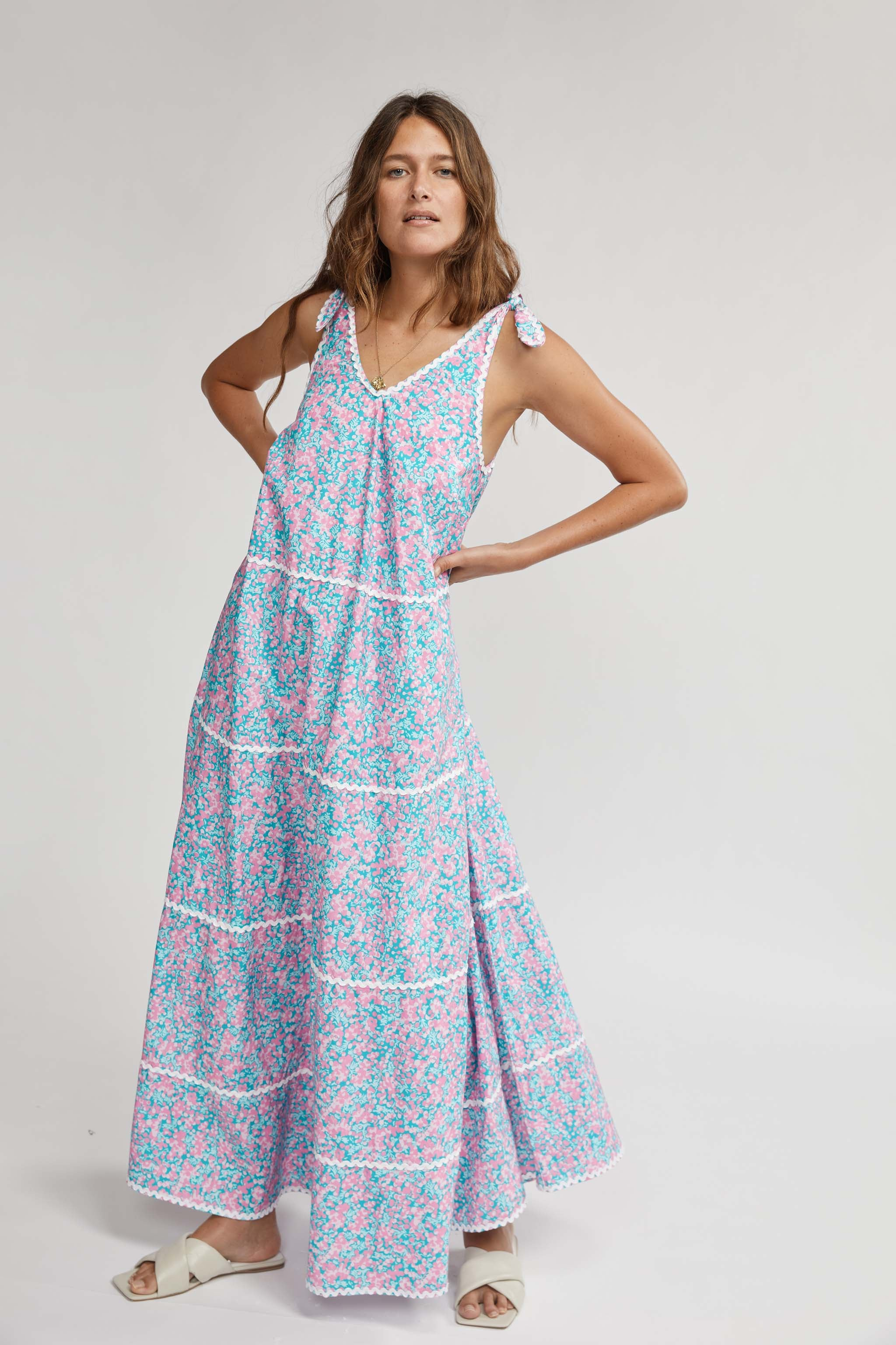 MAY GIBBS TIERED MAXI DRESS