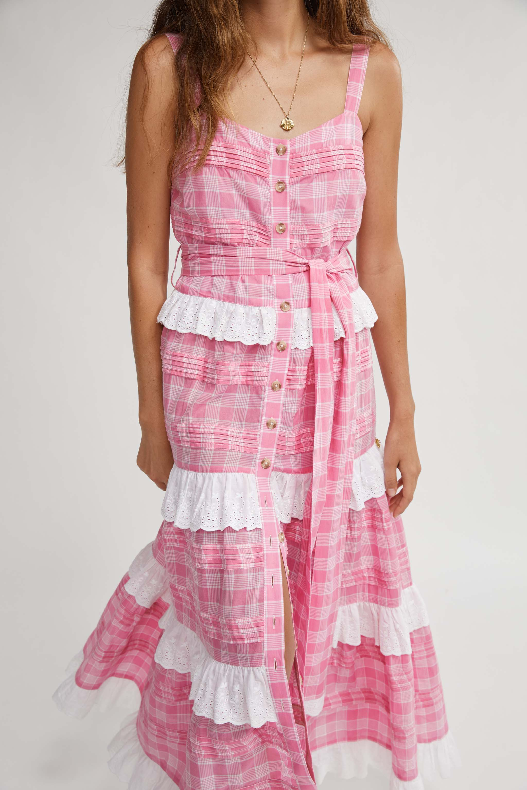SUGARBABIES PINTUCKED MAXI DRESS