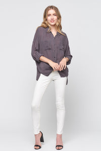 Cargo Pocket Tie Front Top