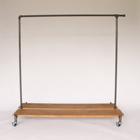 Distressed Wood Rolling Rack