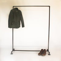 Industrial Clothing Rack no casters