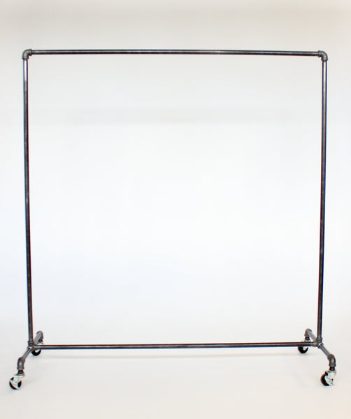 Industrial clothing rack with hook