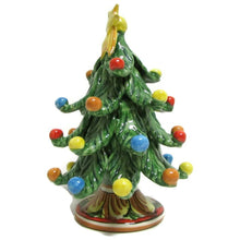 Load image into Gallery viewer, Green Christmas Tree in Caltagirone Ceramics, H 17