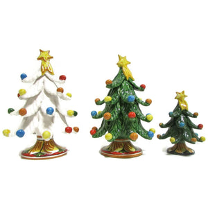 Christmas tree Ceramics from Caltagirone, white