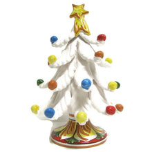 Load image into Gallery viewer, Christmas tree Ceramics from Caltagirone, white
