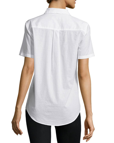 Kylie Short Sleeve Blouse in Bright White