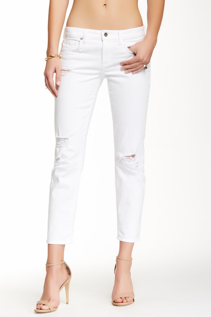 Alexa Slim Fit Boyfriend Jean in Wild One White