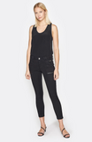 Joie Park Skinny Coated Pant in Caviar