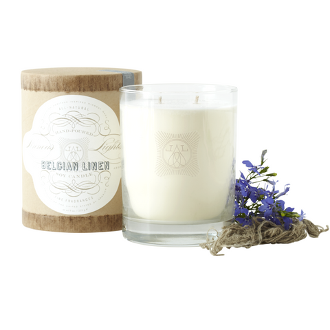 Linnea's Lights Candle - Belgian Linen