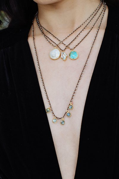 Native Gem Charmed Labradorite Convertible Necklace