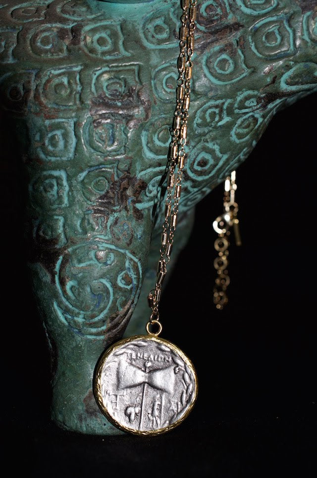 Native Gem Fortuna Coin Necklace