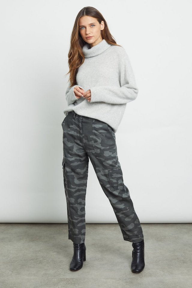 Rails Imogen Cashmere and Silk Sweater in Mist Grey