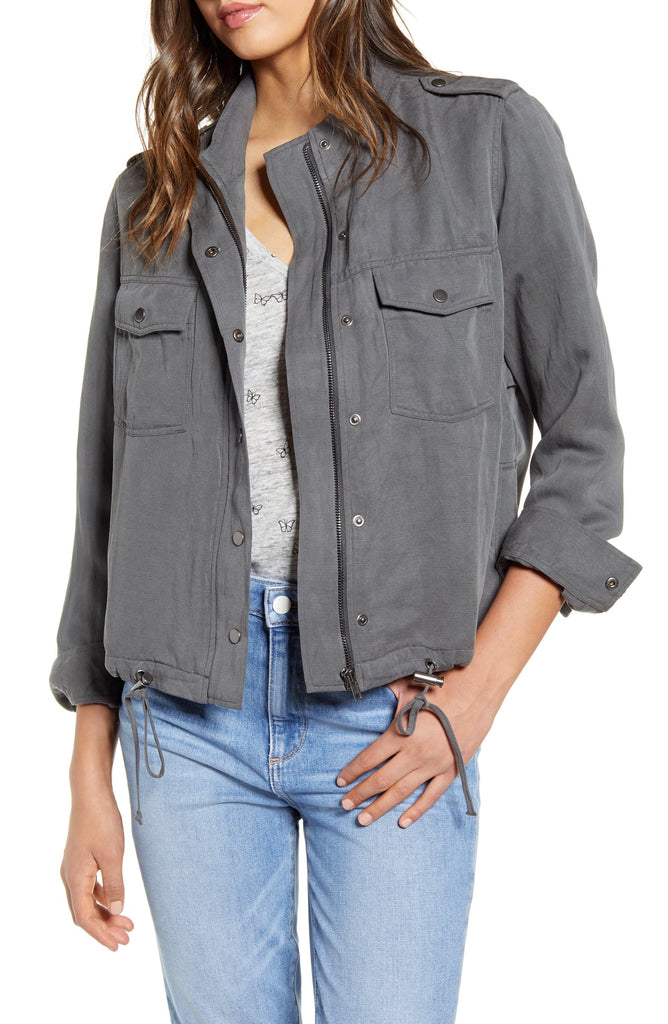 Rails - Collins Military Jacket in Charcoal