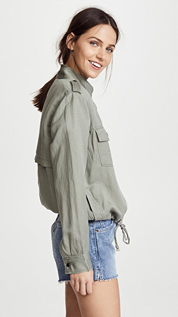 Collins Military Jacket in Sage