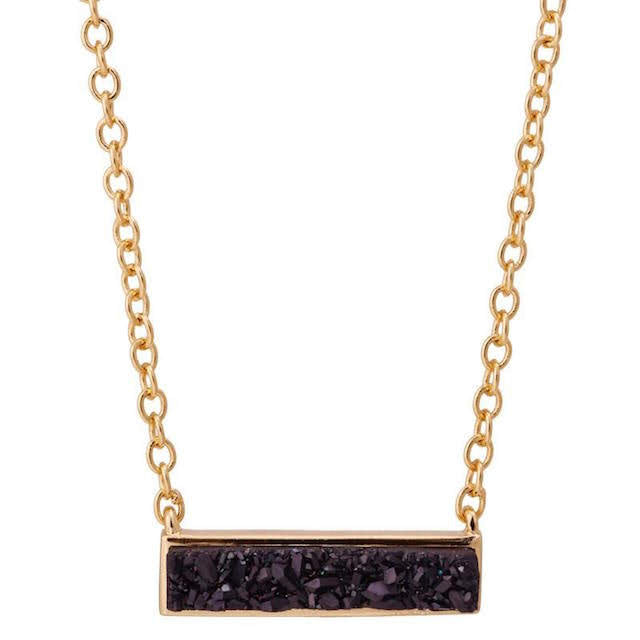Sonya Renee Mini Drusy Bar Necklace