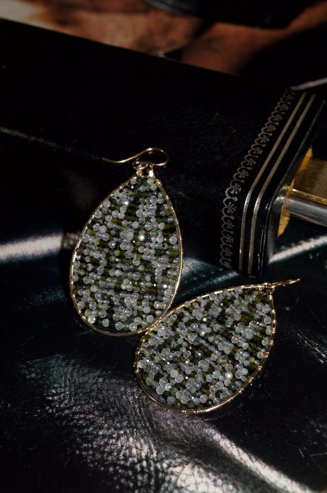 Sonya Renee Posh XL Earrings in Green Rutilated Quartz