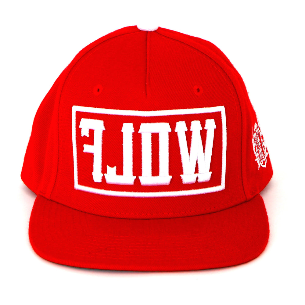 Essential WOLF Red Snapback