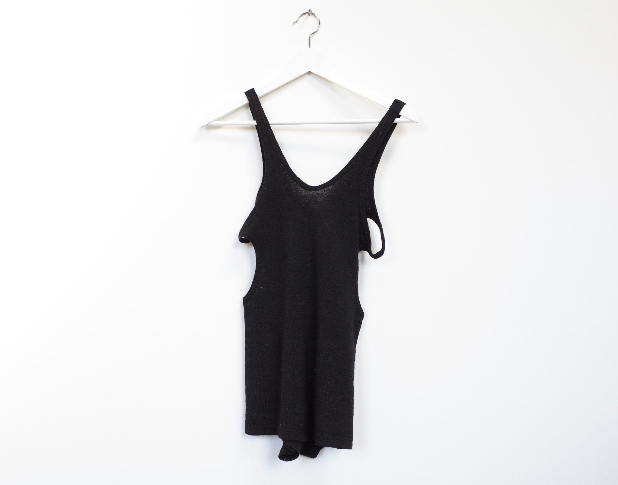 wool cut outs bodysuit