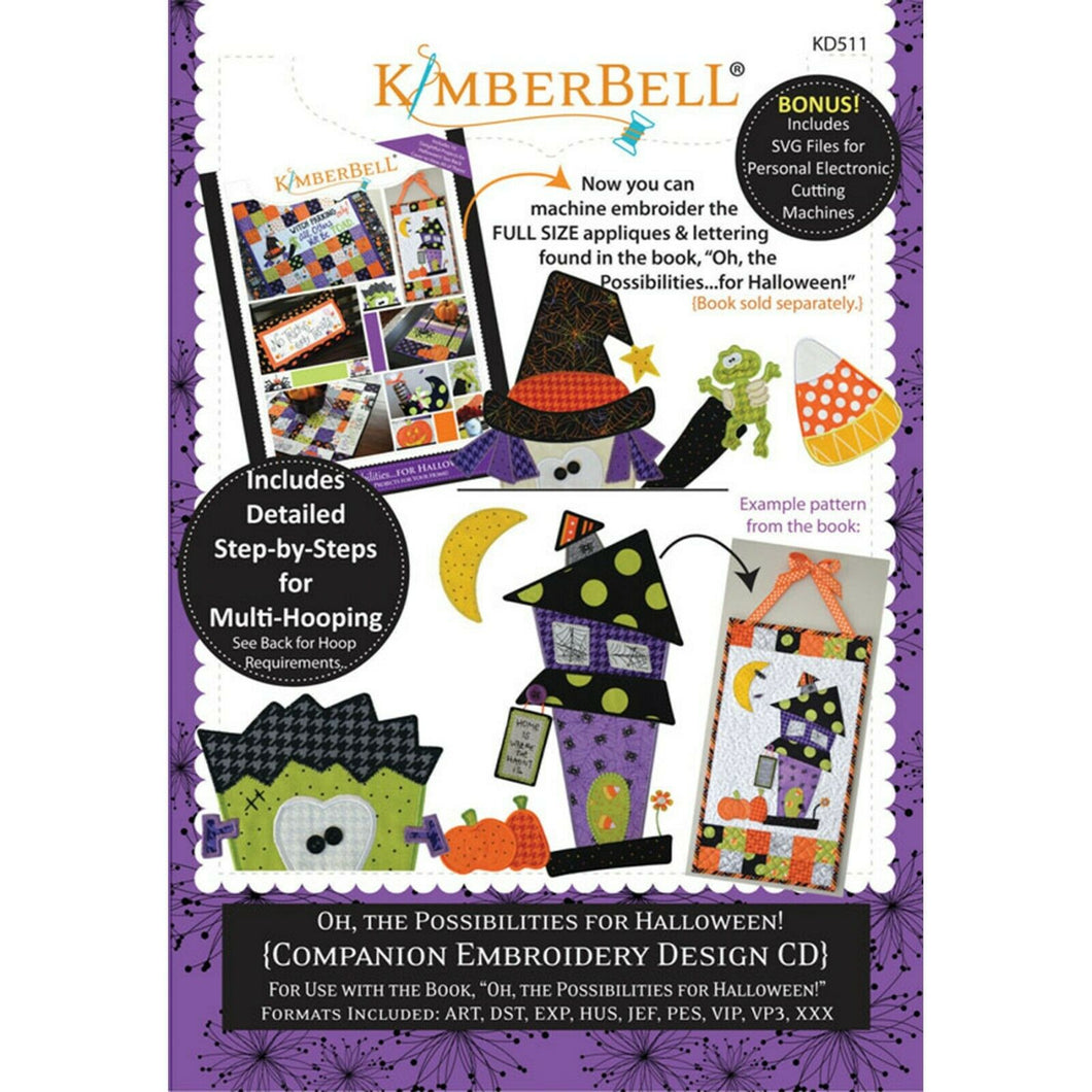 KIMBERBELL OH THE POSSIBILITIES FOR HALLOWEEN – COMPANION EMBROIDERY DESIGN CD