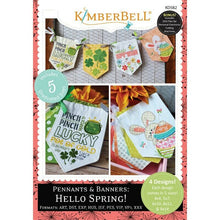 Load image into Gallery viewer, KIMBERBELL PENNANTS & BANNERS HELLO SPRING! MACHINE EMBROIDERY
