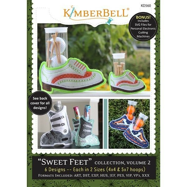 KIMBERBELL SWEET FEET COLLECTION, VOLUME 2 EMBROIDERY CD