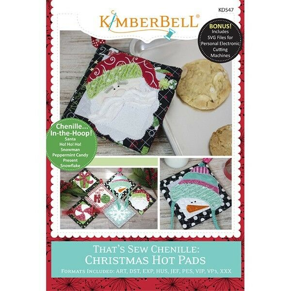 KIMBERBELL  THAT'S SEW CHENILLE: CHRISTMAS HOT PADS (MACHINE EMBROIDERY)