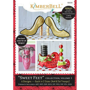 KIMBERBELL SWEET FEET COLLECTION, VOLUME 1 EMBROIDERY CD