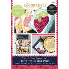 Load image into Gallery viewer, KIMBERBELL FRUIT STAND HOT PADS Machine Embroidery CD