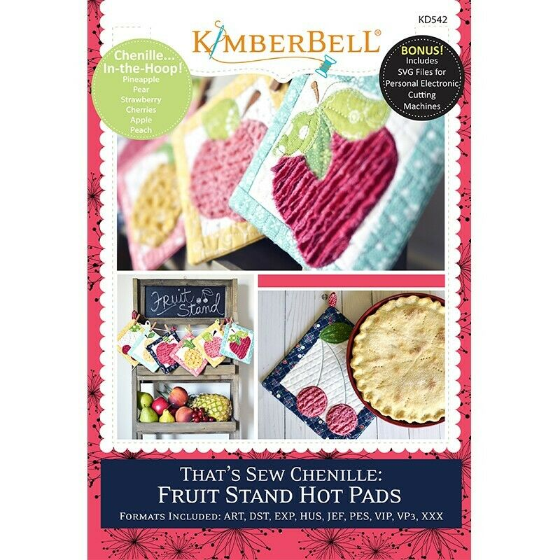KIMBERBELL FRUIT STAND HOT PADS Machine Embroidery CD