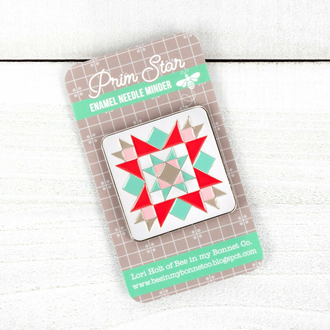 PRIM STAR Enamel Needle Minder by Lori Holt
