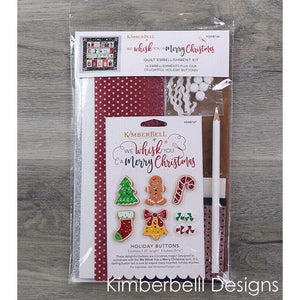 WE WHISK YOU A MERRY CHRISTMAS QUILT KIT (BLACK BORDER) EMBROIDERY