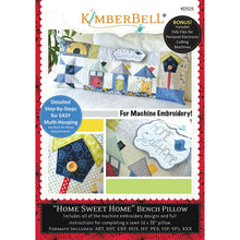 Load image into Gallery viewer, KIMBERBELL HOME SWEET HOME BENCH PILLOW MACHINE EMBROIDERY (CD)