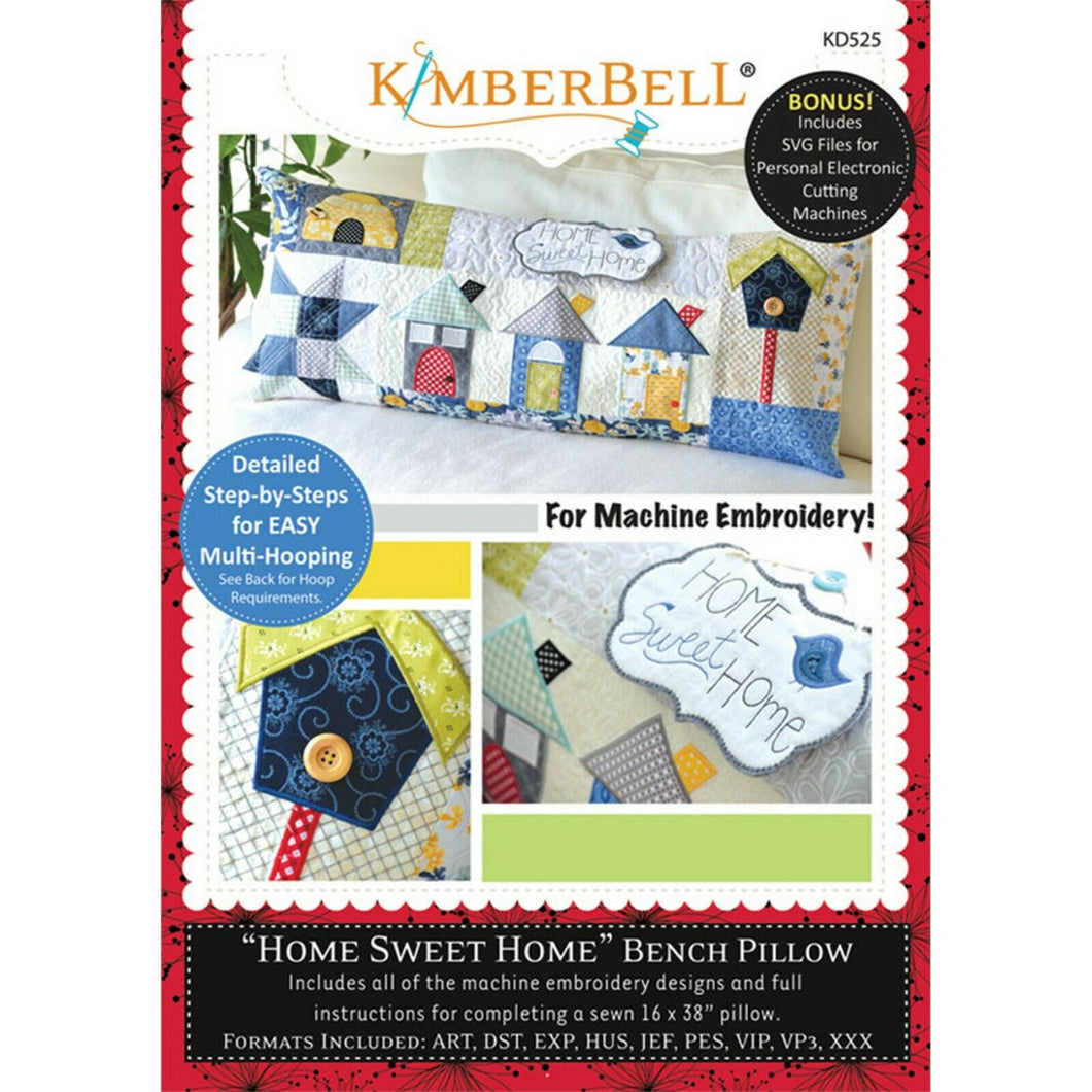 KIMBERBELL HOME SWEET HOME BENCH PILLOW MACHINE EMBROIDERY (CD)