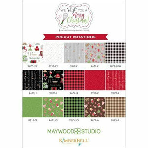 WE WHISK YOU A MERRY CHRISTMAS STRIPS (40) by Maywood Studio