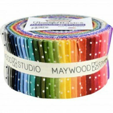 MAYWOOD STUDIO BEAUTIFUL BASICS FABRIC CLASSIC DOT STRIPS (4) 2.5
