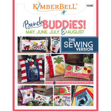 "Load image into Gallery viewer, KIMBERBELL ""BENCH BUDDIES"" SERIES (MAY, JUNE, JULY, AND AUGUST) SEWING VERSION"