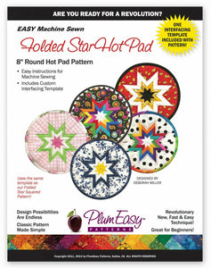 "Folded Star Hot Pad Pattern 8"" by Plum Easy"