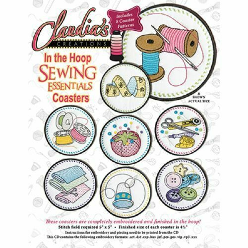 CLAUDIA'S CREATIONS SEWING ESSENTIALS COASTERS CD ME